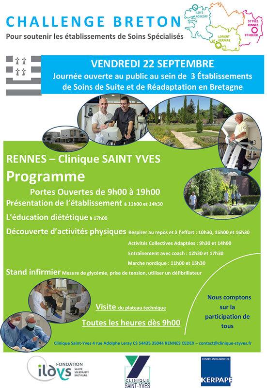 Challenge Breton : Journées portes ouvertes à la clinique Saint-Yves